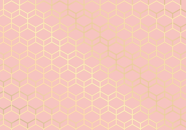 Golden lines. geometric pattern pink background. luxury style.