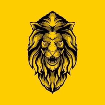 Golden lion illustration