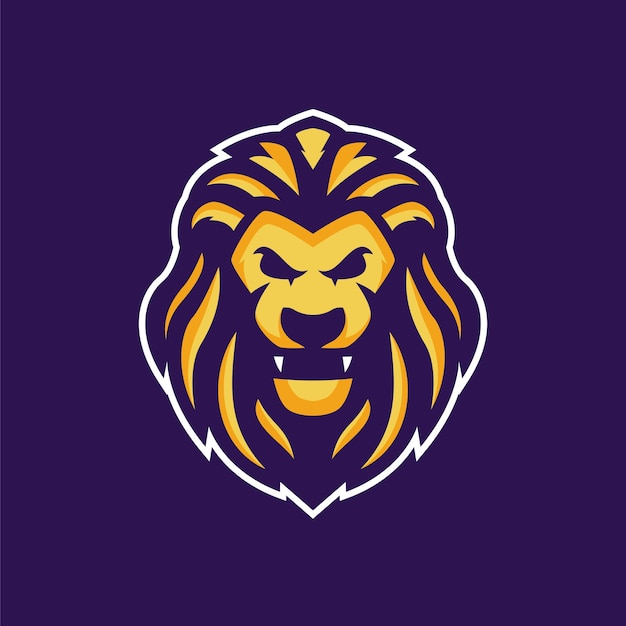 The golden lion mascot logo