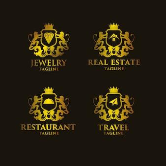Golden logo templates collection