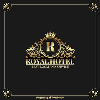 Golden logo with vintage and luxury style