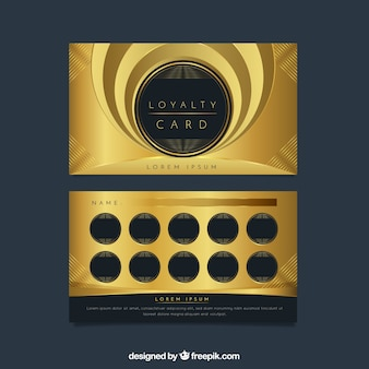 Golden loyalty card template