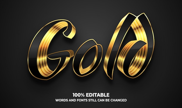 Golden luxury 3d text style effect