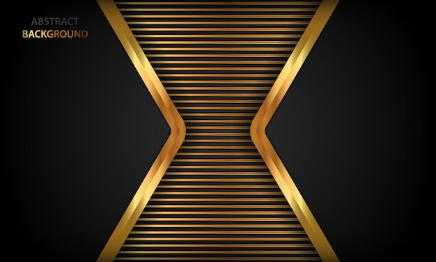 기하학적 형태와 황금 럭셔리 배경 템플릿