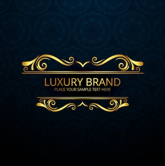 Golden luxury brand design