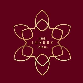 Golden luxury brand
