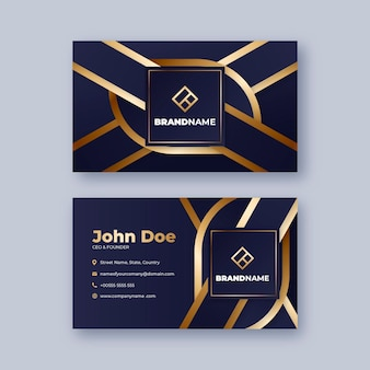 Golden luxury business cards template