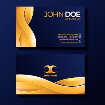 Золотые роскошные визитки шаблон