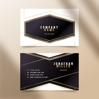 Golden luxury business cards