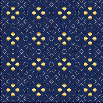 Golden luxury geometrical elements pattern