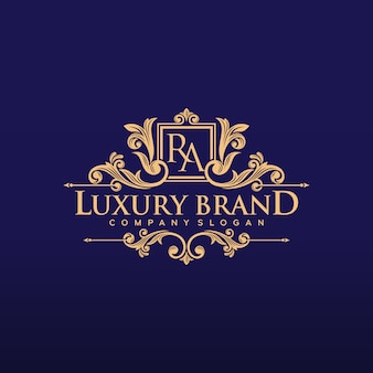 Golden luxury logo design vector illustration