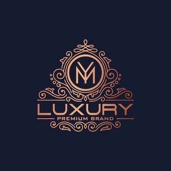 Golden luxury logo design vector template