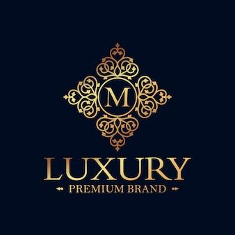 Golden luxury logo design vector template