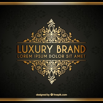 Golden luxury logotype template