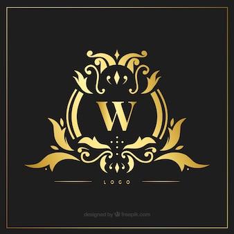 Golden luxury logotype template