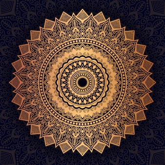 Golden luxury mandala background