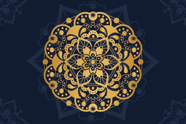 Golden luxury mandala background