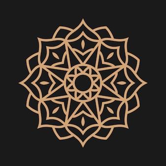 Golden luxury mandala ornament vector