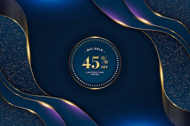Golden luxury sale background