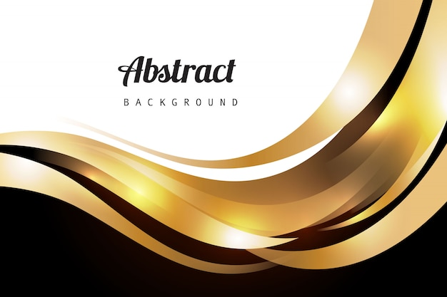 Golden luxury wavy background