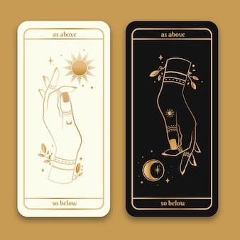 태양과 달 배너 팩으로 그린 황금 마술 손