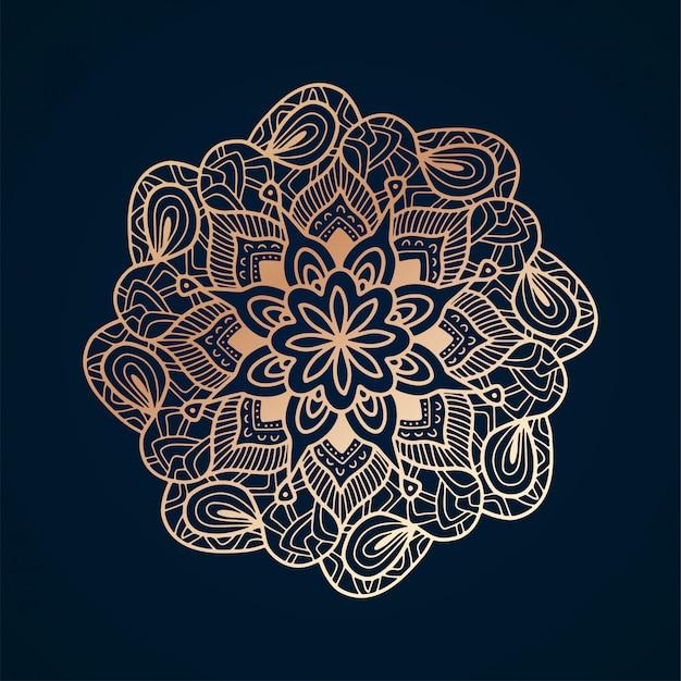 Golden mandala arabesque