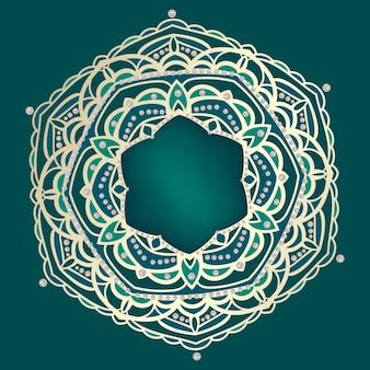 Золотая мандала с арабскими и индийскими мотивами