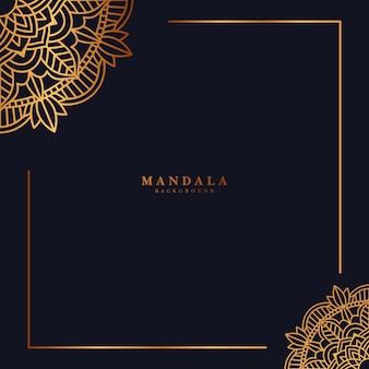 黄金のマンダラの背景