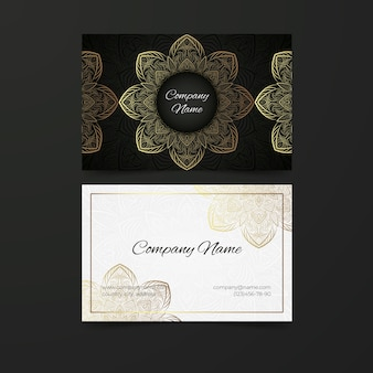 Golden mandala for business card template