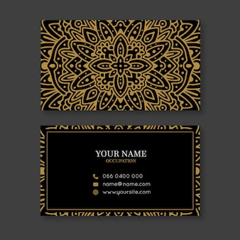 Golden mandala business card