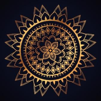 Golden mandala decorative icon