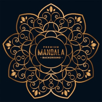 Golden mandala floral decoration