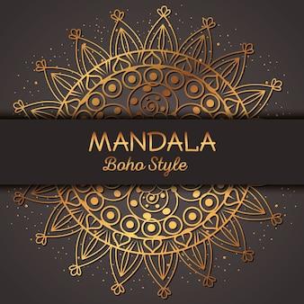 Golden mandala pattern background