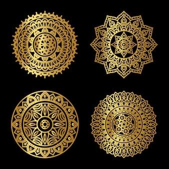 Golden   mandala set