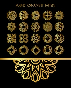 Golden mandalas