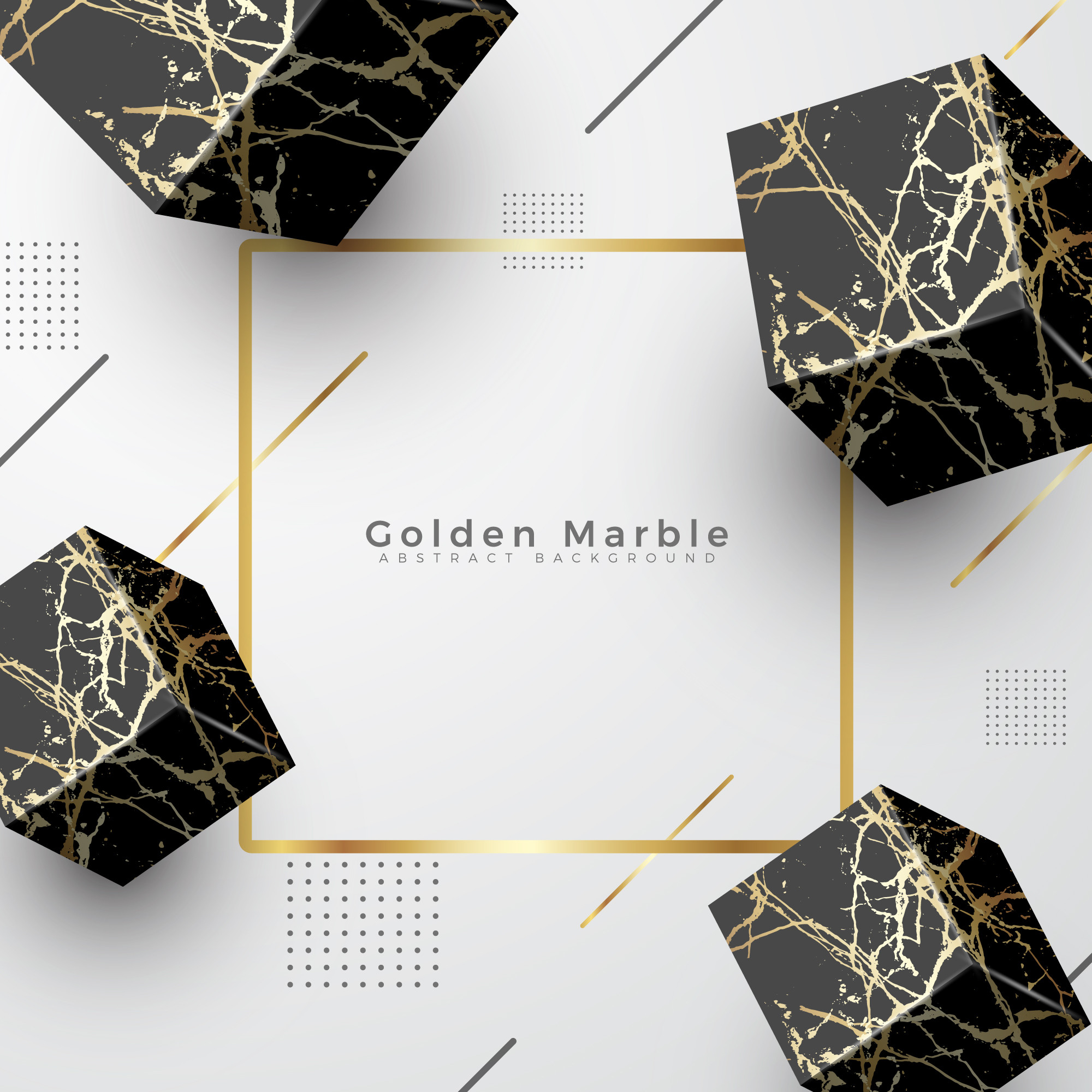 Golden Marble Elegant Luxury Background