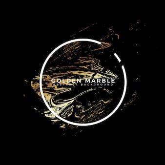 Golden marble texture banner background