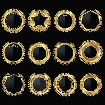 황금 메달 블랙 라벨 세트
