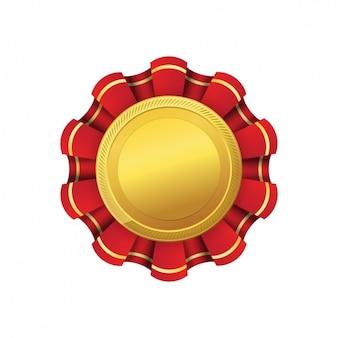 Золотой дизайн медали