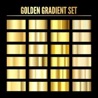 Golden metal realistic gradient