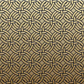 Golden metallic background with geometric pattern. elegant luxury style.