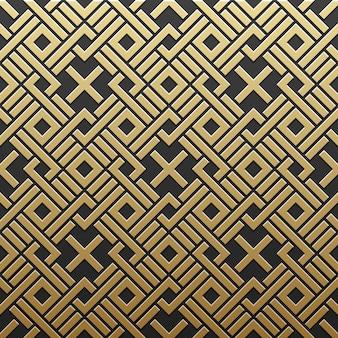 幾何学模様の金色の金属製の背景。エレガントで贅沢なスタイル。