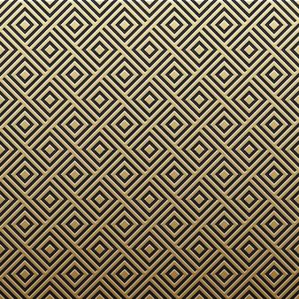 Золотой металлический фон с геометрическим рисунком. элегантный стиль роскоши.