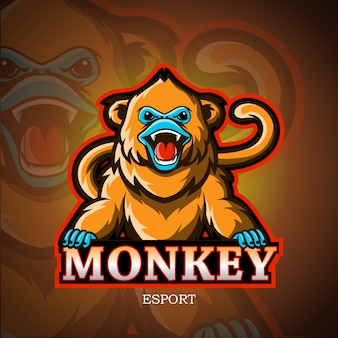 Golden monkeys mascot esport logo  .