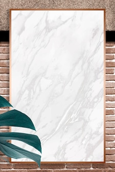 Golden monstera leaves frame design resource
