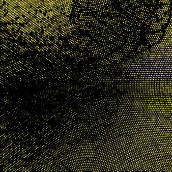 Golden mosaic lights on black background
