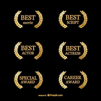 Award vectors photos and psd files free download golden movie wreaths yadclub Gallery