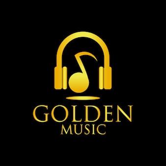 Golden music logo