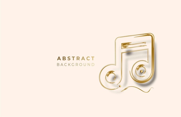 Golden music notes for abstract design use, vector illustration
