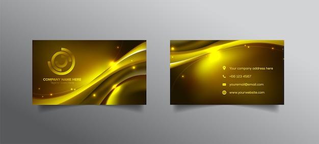 Golden name card design in vector art